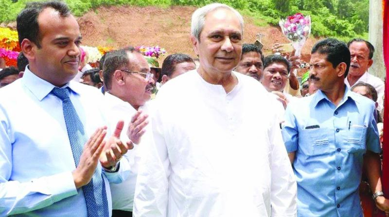 Odisha chief minister and BJD president Naveen Patnaik at a public event.