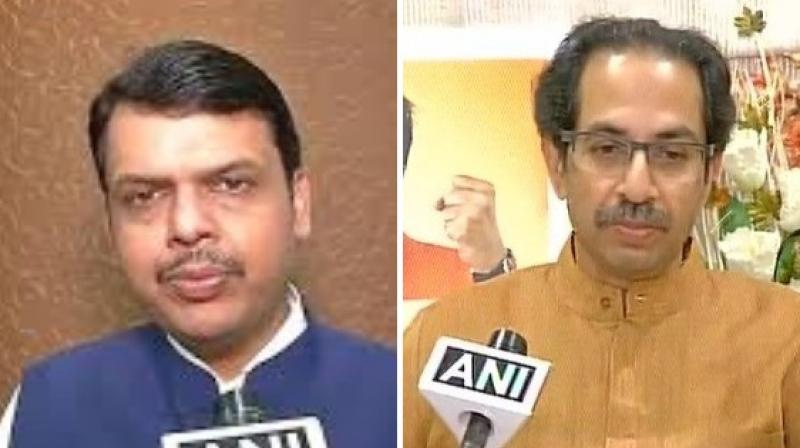 According to sources,  following a request on phone by Mr Shah and Mr Fadnavis, the Sena didn't participate in the Bharat Bandh.(Photo: ANI)