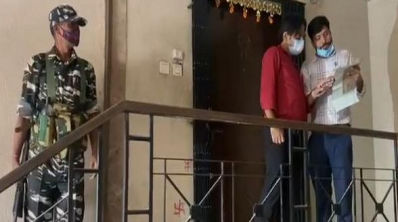Officials carried out the raids at different locations in Kolkata. (ANI)