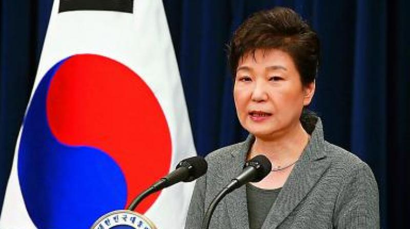 Park, 66, had boycotted most of the trial in protest at being held in custody. She was not present in court for Friday's judgement which, in a rare move, was broadcast live on television. (Photo: AP)