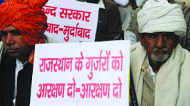 A Gurjar protest in Rajasthan