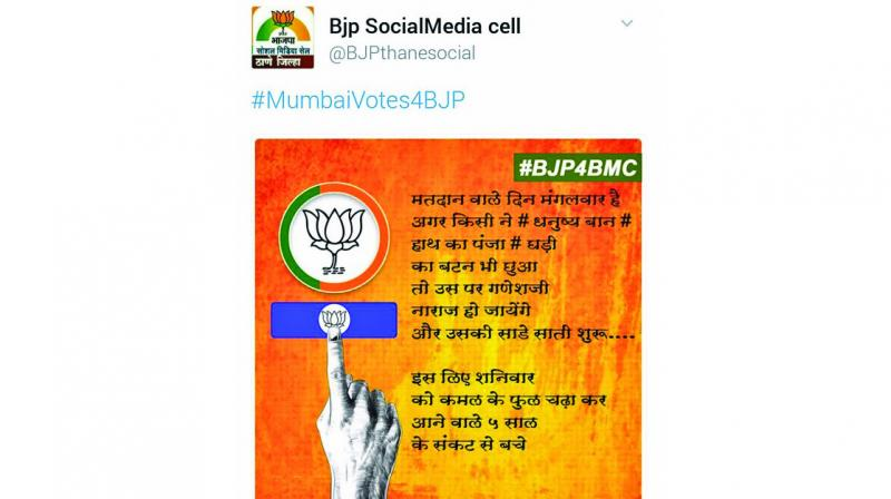 Image of the BJP tweet