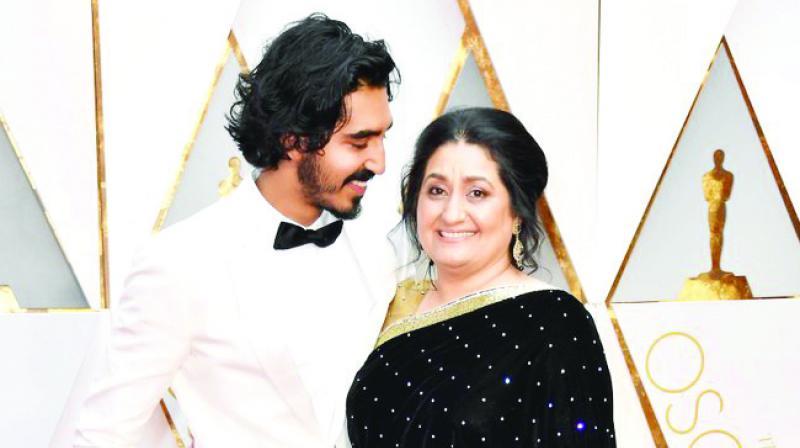 Dev Patel and Mother Anita