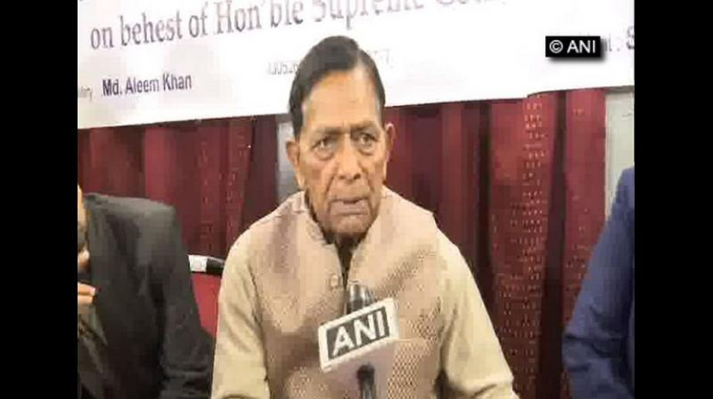 With the Supreme Court set to pass an order on March 5 on whether the Ram Janmabhoomi-Babri Masjid land dispute case should be sent for mediation, Haji Mehboob, a petitioner, has accused Vishva Hindu Parishad (VHP) of not wanting to settle the issue and keep it on for its own benefits. (Photo: ANI)