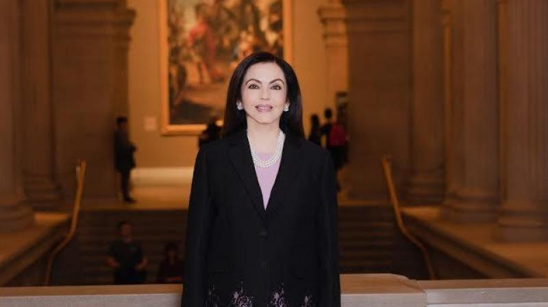 Photo Caption: Nita Ambani Elected to the Board of The Metropolitan Museum of Art (New York) – the First Indian Trustee in the Museum's 150 Year history.