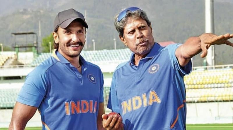 Ranveer Singh with Kapil Dev. (Photo: Twitter)