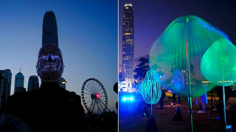 The Hong Kong Pulse Light Festival is showcasing 18 creative light art installations and an enhanced version of 'A Symphony of Lights'. (Photos: AP)