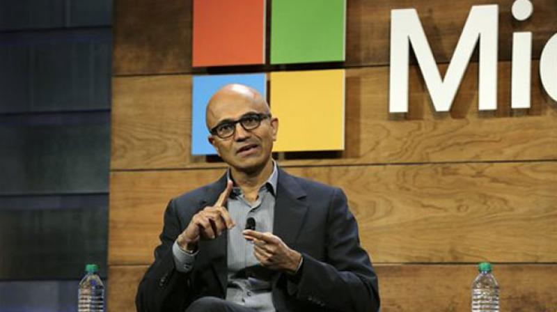 In his book 'Hit Refresh', Nadella writes that his wife, Anu was his priority, which made his decision a simple one. (Photo: AP)