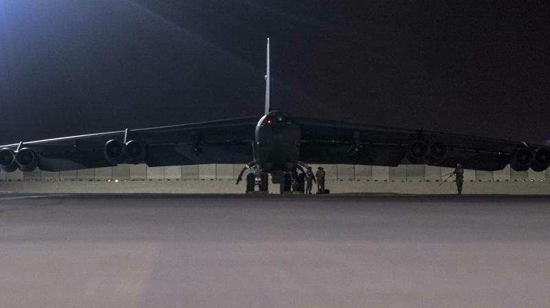 A picture taken by US Air Force personnel stationed in Al Udaid air base and posted on the CENTCOM website showed two aircraft. (Photo:AP)
