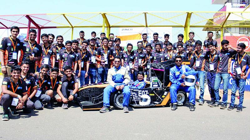 The students ranked first place in India in the 'Electric Vehicle category' in the Formula Bharat 2020 with their vehicle Artemis at an Engineering Design Competition held at Coimbatore, Tamil Nadu recently.