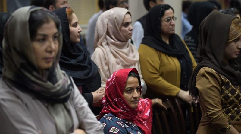 In Afghanistan, an online campaign called #WhereIsMyName is challenging a centuries-old tradition of omitting women's names from the likes of wedding invites and gravestones (Photo: AFP)