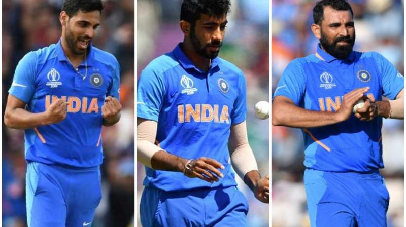 India captain Virat Kohli on Thursday said there is only one spot left to be filled in the team's pace attack for next year's T20 World Cup in Australia, indicating that Jasprit Bumrah, Bhuvneshwar Kumar and Mohammed Shami are almost certain to make the cut. (Photo:AFP)