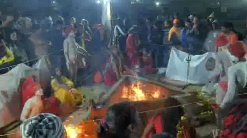 The Akhara, which is not officially recognised as a religious organisation, believes that their ancestors had played an instrumental role in helping Lord Rama to defeat the demon god Ravana in the epic Ramayana. (Photo: ANI)