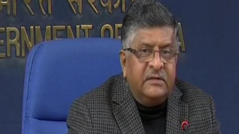 """""""If the economy is 7.4 per cent plus, if national highways are being constructed, if manufacturing is picking up, and if India's economy is globally being recognised, it is creating more and more jobs,""""  Ravi Shankar Prasad said. (Photo: File 