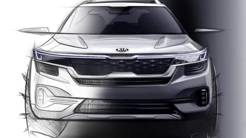 Kia has shown a glimpse of the official design sketches of the SUV.