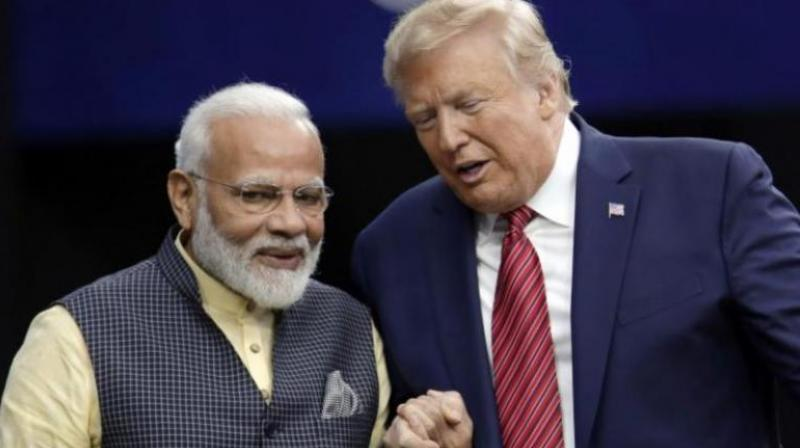 File image of Prime Minister Narendra Modi and US President Donald Trump (AP)