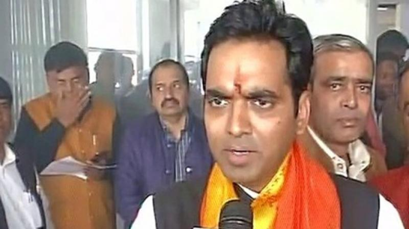Pankaj Singh, who represents Noida in the Uttar Pradesh Assembly, has been receiving extortion messages from unknown phone number since May 25. (Photo: ANI)