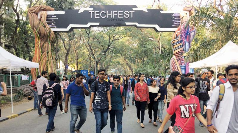 Participants at the IIT-Bombay's Techfest.