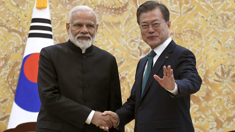 Prime Minister Modi arrived on a two-day visit to South Korea on Thursday to strengthen India's strategic ties with the country. (Photo:AP)