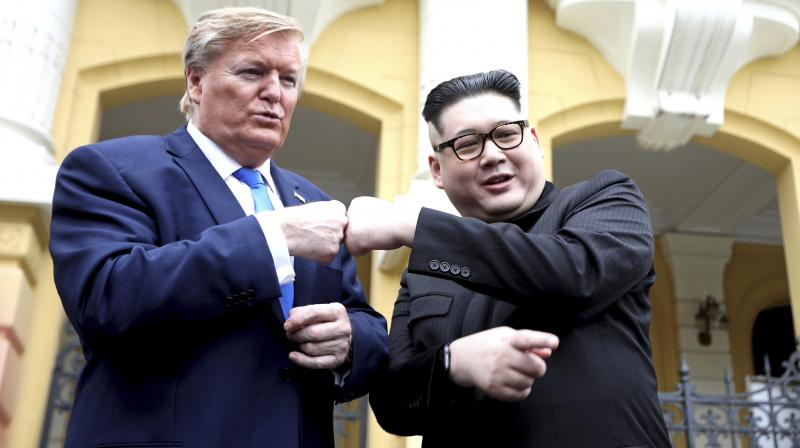 White and Kim impersonator Howard X are in Hanoi days before a meeting between the real leaders of the United States and North Korea. (Photo:AP)