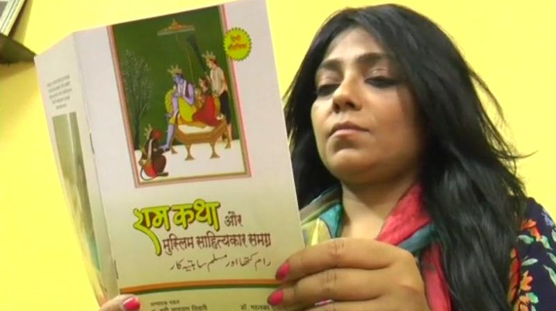 Dr Mahi Talat Siddiqui, a resident of Prem Nagar area, said that she wanted Muslim community to be aware of the goodness of Ramayana along with the Hindus.(Photo: @ANI/Twitter)