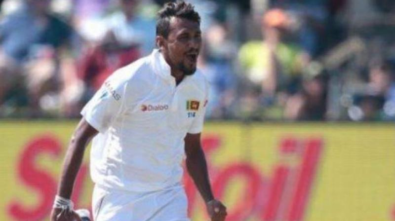 Sri Lanka pacer Suranga Lakmal is out of the upcoming two-match Test series against Pakistan due to dengue fever. (Photo:AFP)