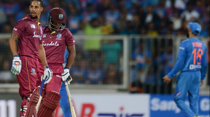 West Indies player Nicholas Pooran's brilliant batting in the second T20I against India impressed Indian spinner Ravichandran Ashwin, who called the batsman 'special'. (Photo:AFP)