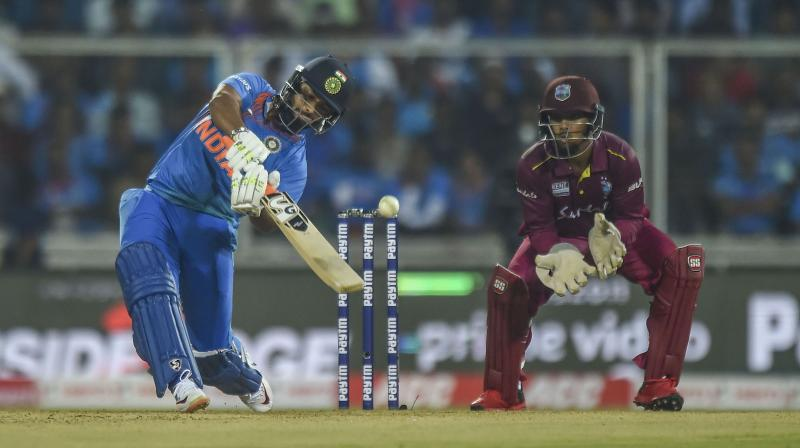 India will have to address the many inadequacies laid bare by a resolute West Indies in the second T20 International when the two teams made up of power-hitters square off in what promises to be an enthralling series-finale here on Wednesday. (Photo:PTI)