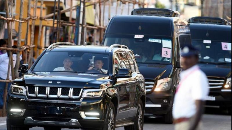 """The """"Hongqi"""" is a luxury Chinese car used by leaders of the ruling Communist Party of China (CPC) from the time of its founder Mao Zedong. (Photo: PTI)"""