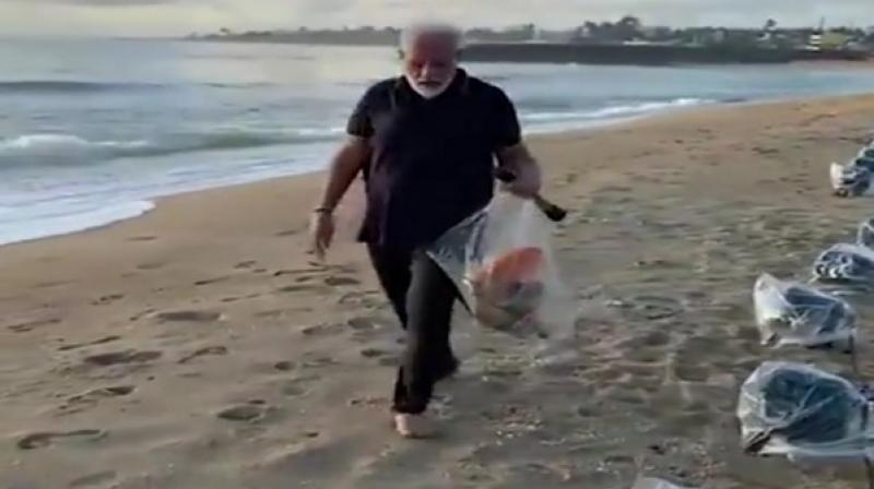 Prime Minister Modi had earlier too spoken in favour of the exercise which not only keeps the body healthy but helps the environment. (Photo: ANI)