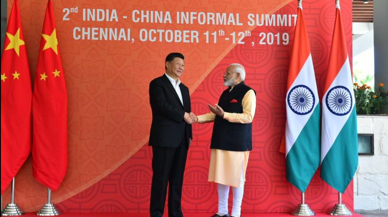 Both Xi and Modi said the two countries need to look to the future. (Photo: MEA | Twitter)
