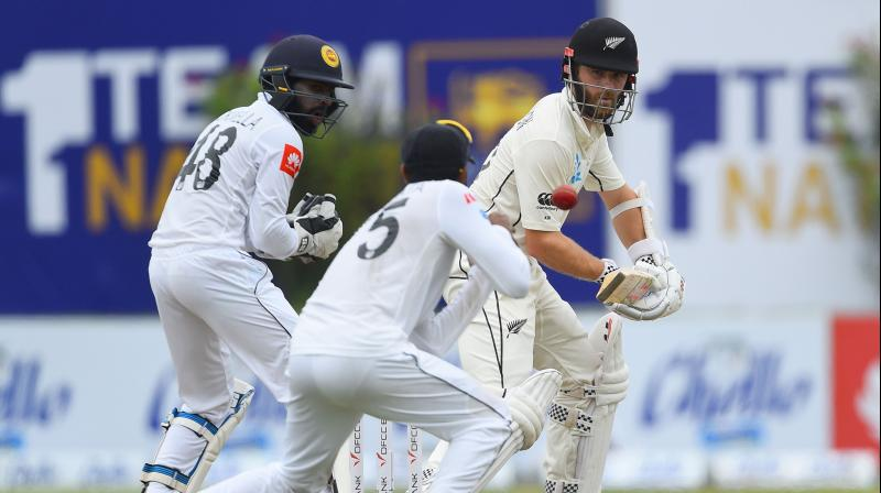 The tourists lost opener Jeet Raval for four runs but captain Kane Williamson, who joined Tom Latham, was watchful and the Kiwis went to lunch without further damage. (Photo: AFP)