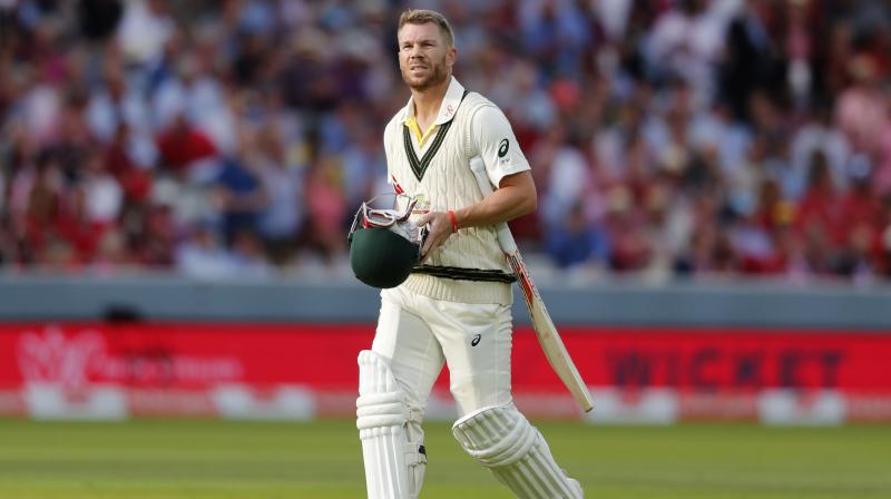 David Warner only managed to score three runs off 17 balls before Stuart Broad got hold of him. (Photo:AP)