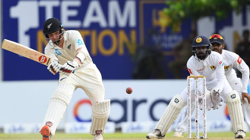 A fighting half-century by wicket keeper-batsman BJ Watling helped New Zealand to take a lead of 177 at stumps on day three in the first Test match against Sri Lanka in Galle on Friday. (Photo:AFP)