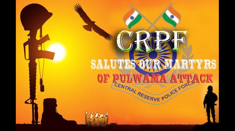 The force said that 'in memory of the martyrs of the terrorist attack, all formations of the Central Reserve Police Force observed two minutes of silence and the force flag will fly half mast on Friday'. (Photo: Twitter | @crpfindia)
