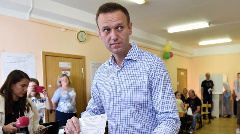 The 44-year-old anti-corruption campaigner was detained on January 17 when he returned to Moscow from Germany. (AFP file)