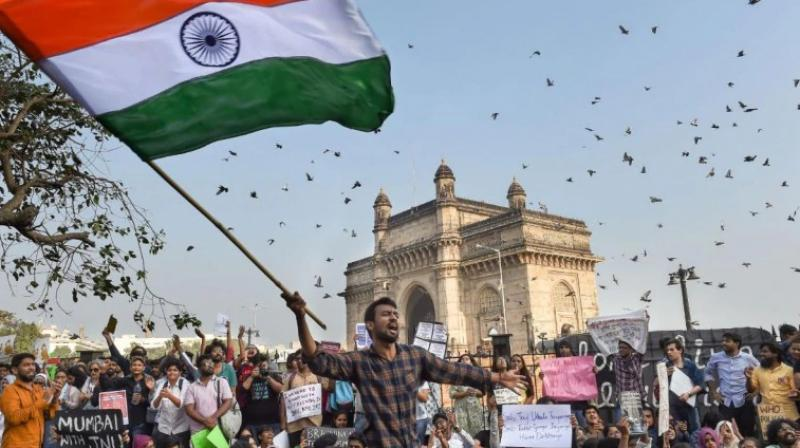 The Colaba Police have registered an offence against more than 350 persons for the 34-hour-long protest at the Gateway of India. (Photo: PTI | File)