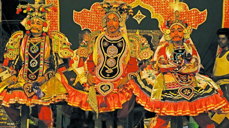 Therukoothu (Street play) was one such ethnic folk art indigenous to India.