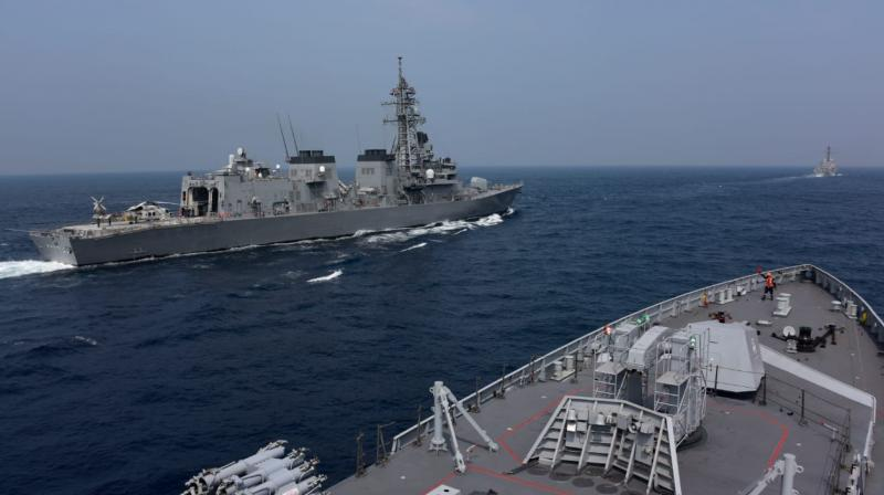 Scenes from the Malabar exercise