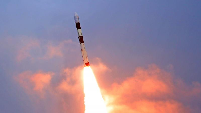 The PSLV takeoff