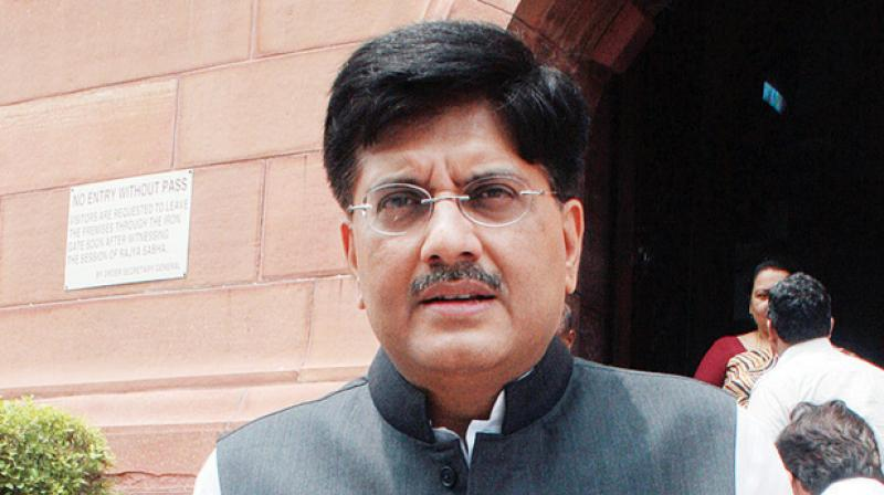Piyush Goyal directed the ministries of railways, road transport and highways, shipping and civil aviation, to work in coordination so that the 14 per cent logistics cost may be brought down to 9 per cent. (Photo: File)