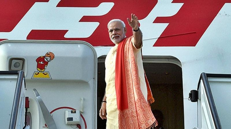 RTI applicant Lokesh Batra had sought to know dates, durations, places visited and the date-wise copies of bills raised by Air India to the PMO for 2016-17. (Photo: PTI)