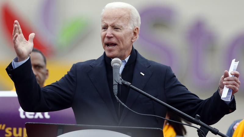 Biden is the current frontrunner in the race for the 2020 Democratic presidential nomination, according to an average of national polls by RealClearPolitics.com. (Photo: File)