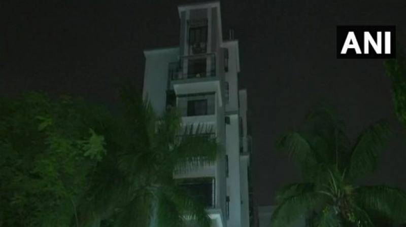 Ravi Shankar Alok jumped off his residential building in Seven Bungalows area in Andheri. (Photo: ANI/Twitter)