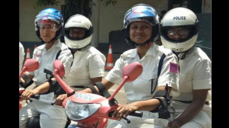 Over 20 policewomen were present during their first official appearance at a programme held at the force's headquarter in Lalbazar. (Photo: Facebook/Kolkatapolice)