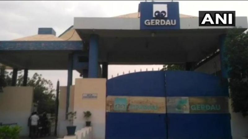 The steel mill, located at Tadipatri, belongs to Brazilian firm Gerdau, a leading producer of long steel in the American sub-continent. (Photo: Twitter/ANI)