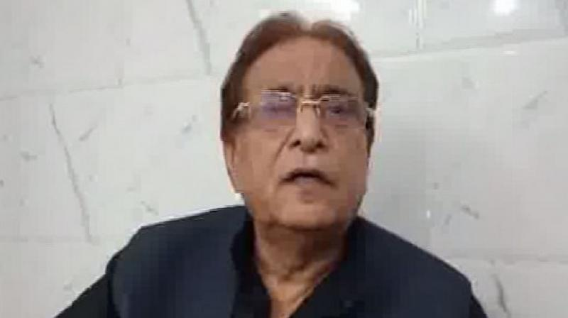 According to police, SP's parliamentarian from Rampur, Azam Khan faces over 30 cases, mostly linked to grabbing of either government or farmer land. (Photo: ANI)