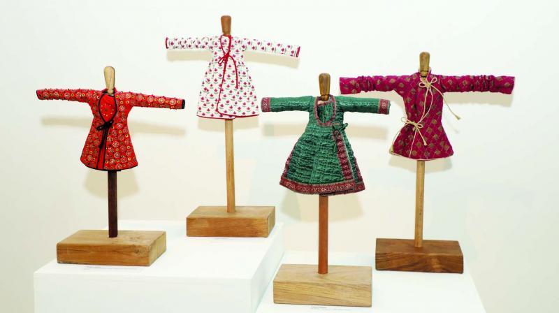 Geeta was inspired by the variety of fabric used in the Maharajas' costumes.
