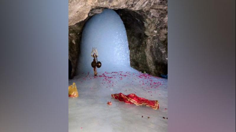 The holy Amarnath cave. (ANI)