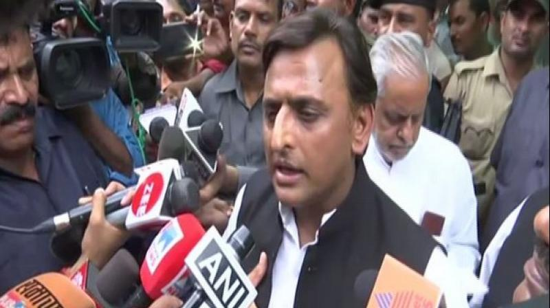 The former Chief Minister also demanded constitution of a special investigation team headed by a sitting judge to probe into the road accident of Unnao rape case victim. (Photo: ANI)